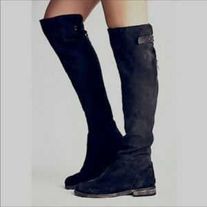 Free People Cumbria Over the Knee Suede Boots